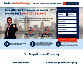 sandiegobusinessfinancing.com screenshot