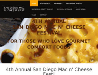 sandiegomacncheese.com screenshot