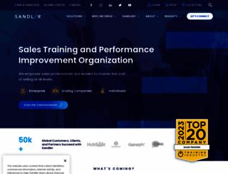 sandler.com screenshot