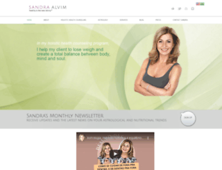sandraalvim.com screenshot