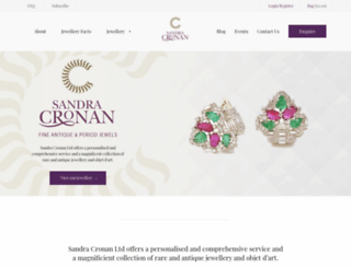 sandracronan.com screenshot