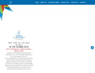 sandsofislamorada.com screenshot