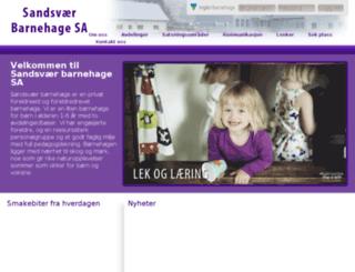sandsvar.vigilo.no screenshot
