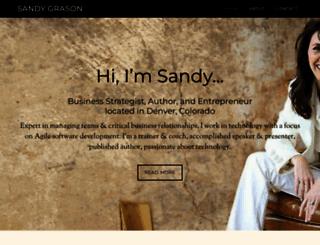sandygrason.com screenshot