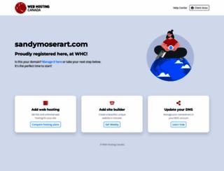 sandymoserart.com screenshot