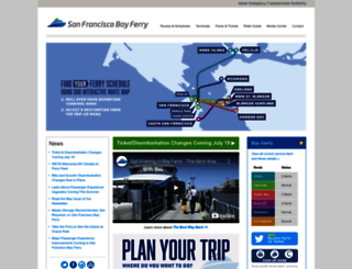 sanfranciscobayferry.com screenshot