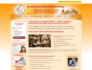 sanftegeburt.ch screenshot