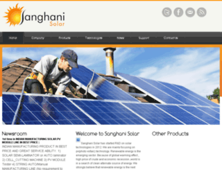sanghanisolar.com screenshot