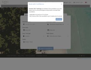 saniresort-holidays.swapsystems.com screenshot