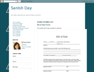 sanishday.blogspot.com screenshot