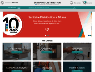 sanitaire-distribution.fr screenshot
