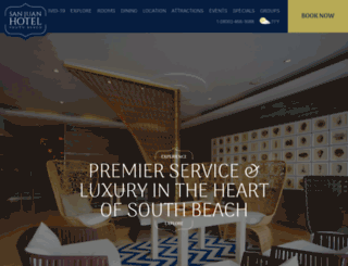 sanjuanhotelsouthbeach.com screenshot