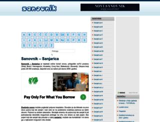 sanovnik.org screenshot