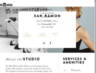 sanramon.barmethod.com screenshot