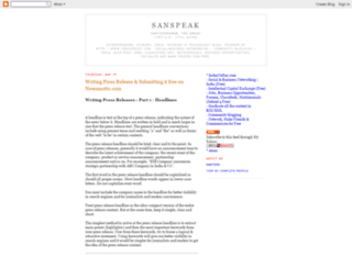 sanspeak.blogspot.pt screenshot