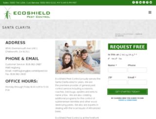 santa-clarita.ecoshieldpest.com screenshot