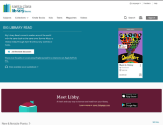 santaclara.libraryreserve.com screenshot