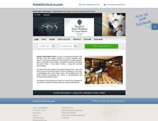 santangelo.hotelinvenice.com screenshot