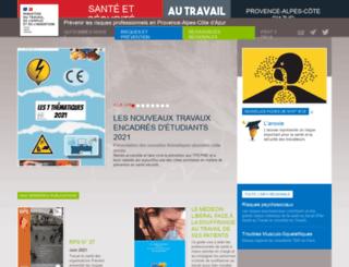 sante-securite-paca.org screenshot