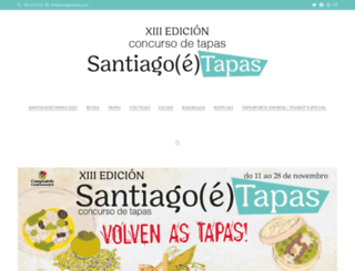 santiagoetapas.com screenshot