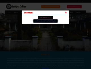 santipurcollege.in screenshot