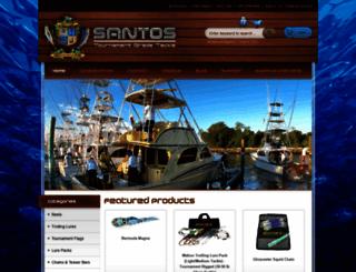 santosfishing.com screenshot