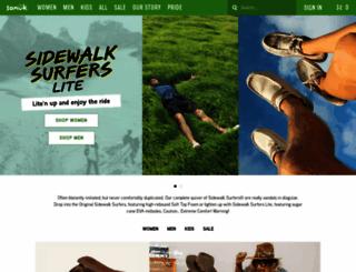 sanuk.com screenshot