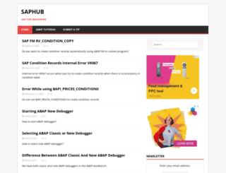 saphub.com screenshot