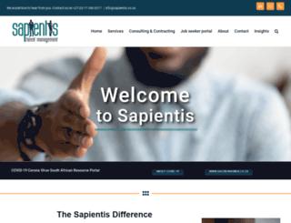 sapientis.co.za screenshot