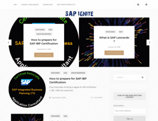 sapignite.com screenshot