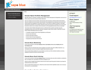 sapoblue.com.au screenshot
