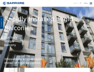 sapphirebalustrades.com screenshot