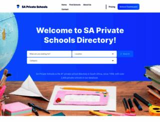 saprivateschools.co.za screenshot