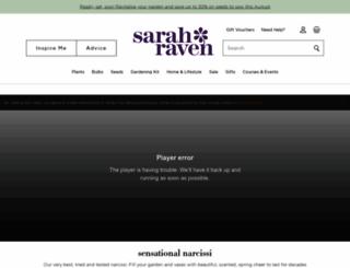 sarahraven.com screenshot