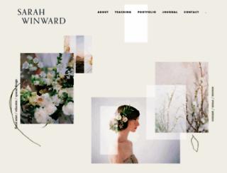 sarahwinward.com screenshot