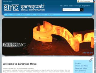 saraswatimetalcorporation.in screenshot