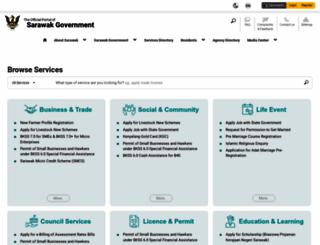 sarawak.gov.my screenshot