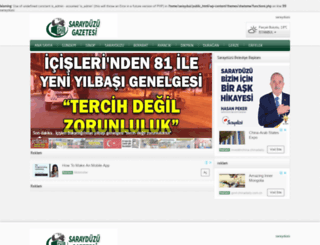 sarayduzugazetesi.com screenshot
