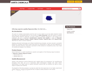saritachemicals.tradeindia.com screenshot