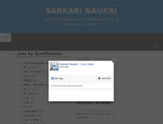 sarkarinaukridekhlo.com screenshot