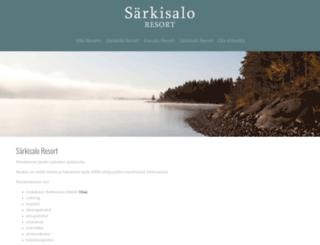 sarkisaloresort.fi screenshot