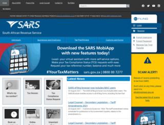 sars.co.za screenshot