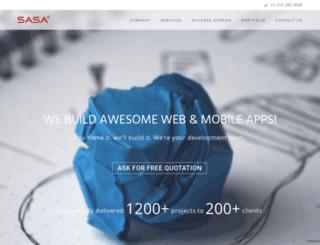 sasasoftwaretechnologies.com screenshot