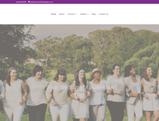 saschoolofweddings.co.za screenshot