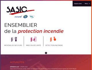 sasic-protectionincendie.com screenshot