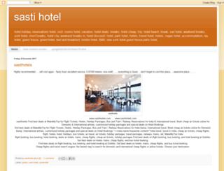 sastihotel.blogspot.com screenshot