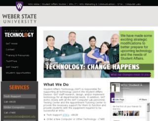 sat.weber.edu screenshot