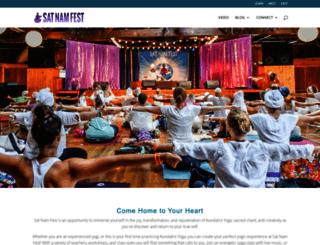 satnamfest.com screenshot