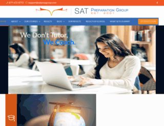 satprepgroup.com screenshot