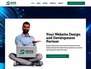 satvikinfotech.com screenshot